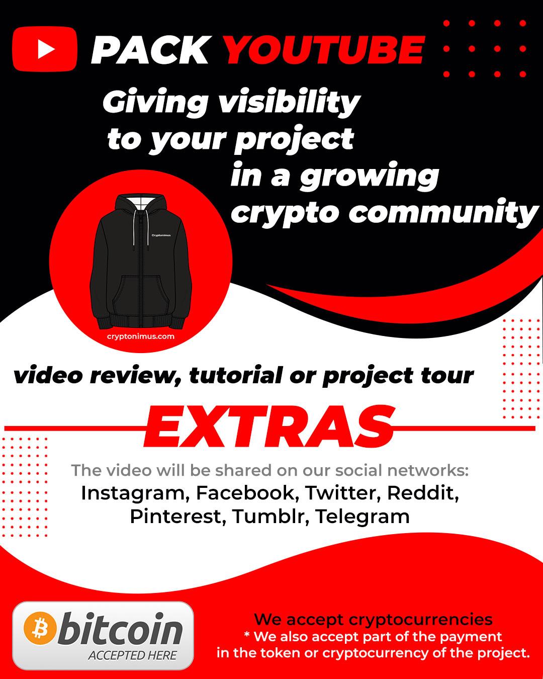 crypto token promo pack youtube cryptonimus advertising
